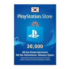 Playstation Network 30,000 won PSN KOREA Store Card - Digital Code PS4 PS3