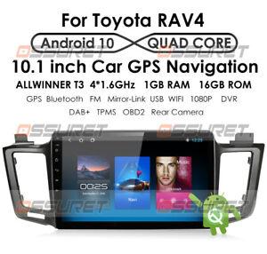"10.1"" Android10 Car Radio Stereo Player GPS Navigation For Toyota RAV4 2013-2017"