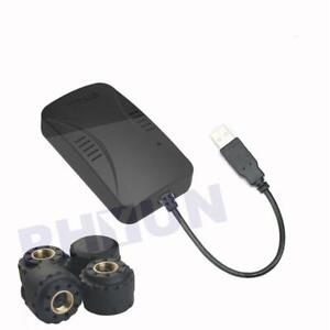 TPMS Tire Pressure Alarm System With 4 Sensors For Android DVD Player Tire Alarm