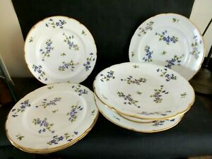 Outstanding Victorian Minton 8 Piece Floral & Gilt Cake Set Dated 1898