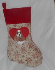 American Cocker Spaniel Dog Hand Painted Christmas Gift Stocking Decoration