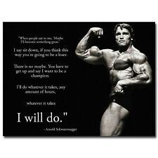 """ARNOLD SCHWARZENEGGER Motivational Poster - I Will Do Whatever It Takes 24x32"""""""