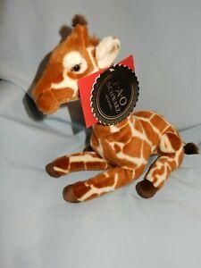 "FAO Schwarz Giraffe Sitting 12"" With tags"