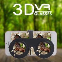 Mini 3D Virtual Reality Brille Portable Mini Falten 3D Brille Schwarz GE