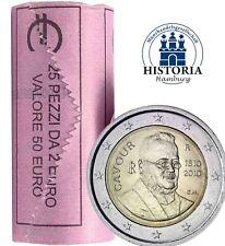 25 Münzen Italien 2 Euro 2010 Graf von Cavour Gedenkmünzen in Rolle