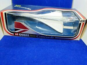 vintage diecast Corg No.650 Concorde British Airways, in original  Window Box
