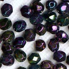 60 FACETTES Cristal de Bohême 4 MM ROUGE IRISE