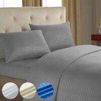 Super Soft 4 Piece Bed Sheet Set Pillowcase Deep Fitted Sheet Flat Sheet