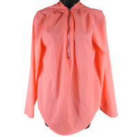 Hot Pink Long Sleeve Half Zip Thin Pullover Blouse Women's Size Large