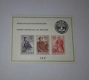 Belgium Belgique Belgie World Refugee Year 1960 Broschüre Of 3 Stamps