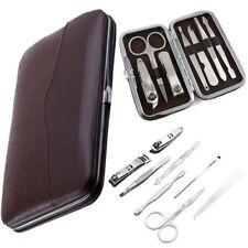 7 Piece Cutter Cuticle Clipper Manicure Pedicure Nail Care Kit Case Gift Set UK