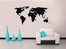 WORLD MAP Decal WALL STICKER Art Home Decor Vinyl Stencil Silhouette SST006