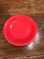 "Fiesta Plate RED HOMER LAUGHLIN Fiestaware 7.25"" Salad Bread Plate"
