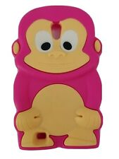 Samsung Galaxy SII Phone Case Pink Monkey Silicone Cute Adorable S2 Girly Kids