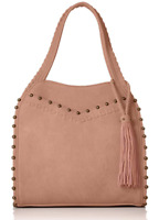 Steven by Steve Madden Antique Ball Blush Pink Hobo Handbag B4032