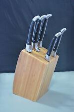 5 tlg. Laguiole de baladeo Küchenmesser-Set mit Messerblock aus Bambus