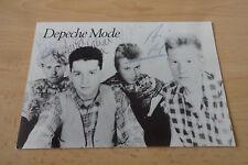 Depeche Mode Autogramme signed 10x15 cm Postkarte