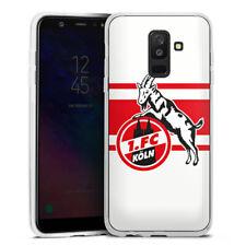 Samsung Galaxy A6 Plus Silikon Hülle Case - White red Stripes 1.FC