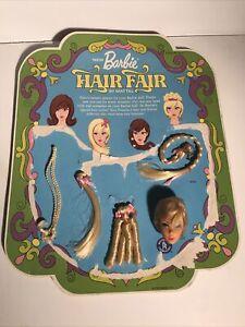 Vintage 1968 Blonde Barbie Hair Fair Head, Lashes Accessories Card #4043