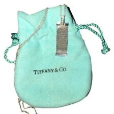 Tiffany & Co. Sterling Silver 4 Row Diamond Elsa Peretti Mesh Drop Pendant