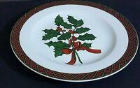 """Sakura Holiday Greens 8 1/4"""" salad plate Holly motif"""