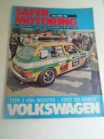 VOLKSWAGEN SAFER MOTORING June 1974 Vintage Illustrated Magazine + Adverts