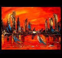 LANDSCAPE   ARTWORK  FINE ART painting  Modern  Original Oil Abstract CANVAS