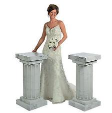 3 Feet Marble Look Fluted 2 Set Columns Wedding Party Decoration Celebration New