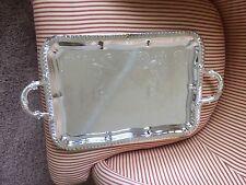 Godinger Rectangular Silver Tray With Handles