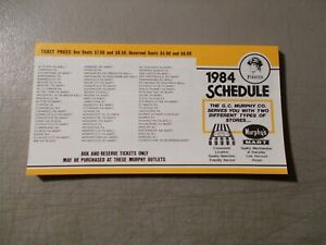 LOT OF 55 PITTSBURGH PIRATES POCKET SCHEDULES ALL FROM 1984