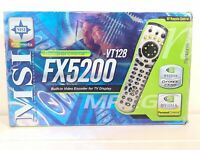 MSI Personal Cinema 5200-VT128 GeForce FX 5200 128MB AGP analog TV Tuner