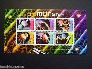 Australia Micro Monsters Minisheet 2009 MNH