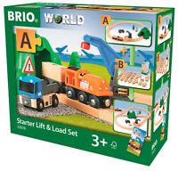 33878 BRIO Starter Train Lift & Load Railway Wooden Toy Set Children Kids Age 3+