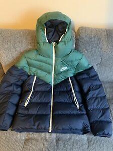 Nike Down Fill Windrunner Hooded Puffer Jacket Blue/green  Size L BNWT