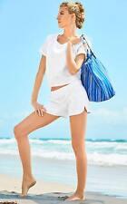 NEW Lilly Pulitzer DOSSIE TOP & SHORT SET Resort White Jungle leaf Jacquard S M