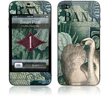 "Gelaskin Skin iPhone 4 4S;  ""Swan  Post""  Vintage Deco Birds Exotic Theme B"