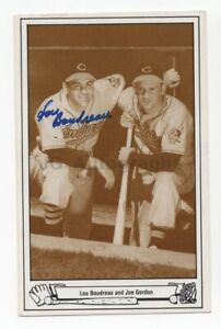Lou Boudreau - MLB Hall of Fame - Autographed Postcard