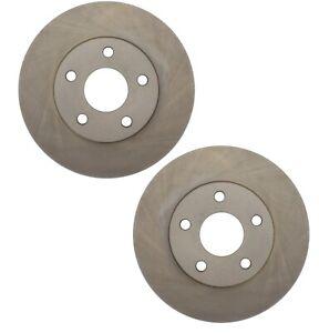Pair Set 2 Front C-Tek Brake Disc Rotors For Chevy Oldsmobile Pontiac Light Duty