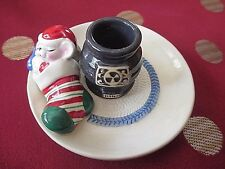 Avon Ceramic Snuggly Mouse Candle Holder in Original Box - Vtg 1983