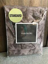 "Vera Wang FLORAL JACQUARD Standard Sham 20""x26""  $150 ~ Grey Gray NWT"