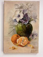 Blumenstilleben Bild Gemälde Ölgemälde Malerei sign. A.Sell um 1920-30