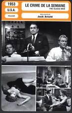 LE CRIME DE LA SEMAINE - Robinson,Forsythe (Fiche Cinéma) 1953 - The Glass Web