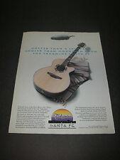 Print Ad 1993 MUSIC Takamine Santa Fe Acoustic Guitar Hotter than a jalapeno