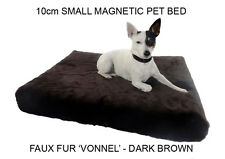 AUSTRALIAN MADE MAGNETIC DOG BED - 10CM SMALL - FAUX FUR