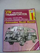 HAYNES #226 Automotive Repair Manual Book for VW TRANSPORTER 1972-1979