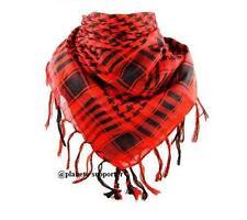 **** PROMOTION **** KEFFIEH ROUGE ET NOIR écharpe foulard palestinien cheche ...