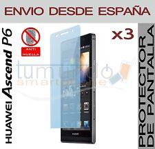 3x PROTECTOR de PANTALLA MATE ANTIHUELLAS para HUAWEI ASCEND P6 en ESPAÑA