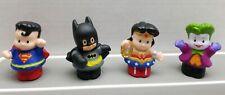 Lot Of 4 2011 Little People DC Superheroes Batman Wonder Woman Joker Superman