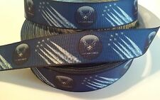 """U.S. Air Force inspired 1"""" Grosgrain Ribbon - By The Yard - USA Seller"""