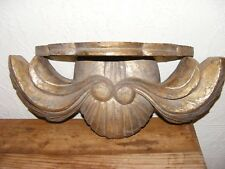 WOODEN CARVED SCONCE SHELF SHABBY CHIC TAT SWAG DESIGN